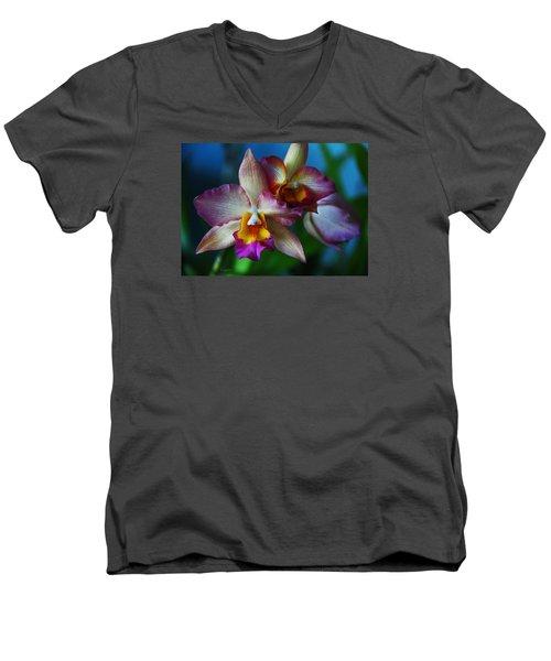 Orchids - Trio Men's V-Neck T-Shirt by Kerri Ligatich