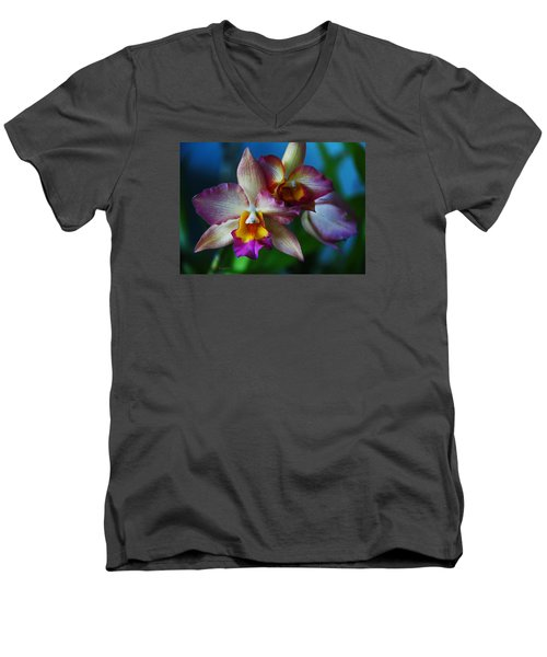 Orchids - Trio Men's V-Neck T-Shirt