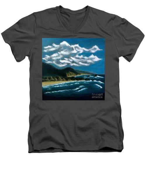 Oregon Coast Men's V-Neck T-Shirt