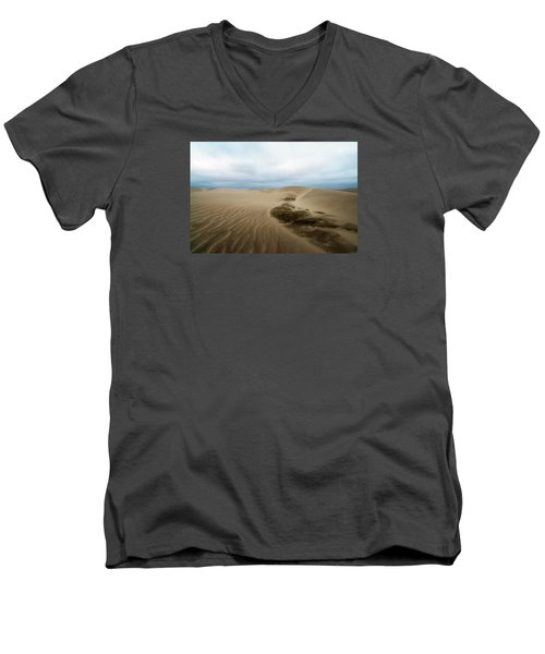 Men's V-Neck T-Shirt featuring the photograph Oregon Dune Wasteland 1 by Ryan Manuel