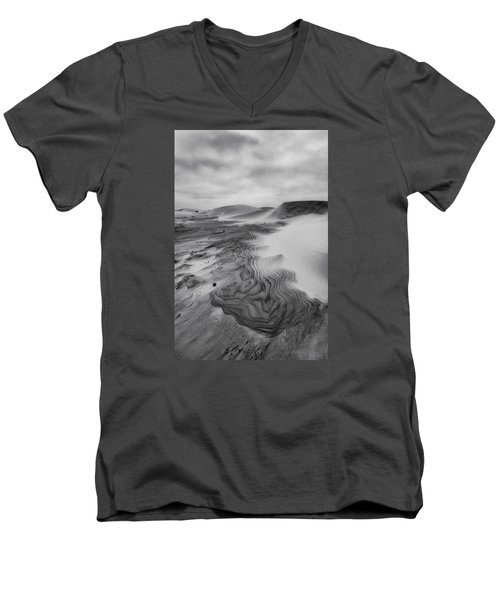 Men's V-Neck T-Shirt featuring the photograph Oregon Dune Wasteland 2 by Ryan Manuel