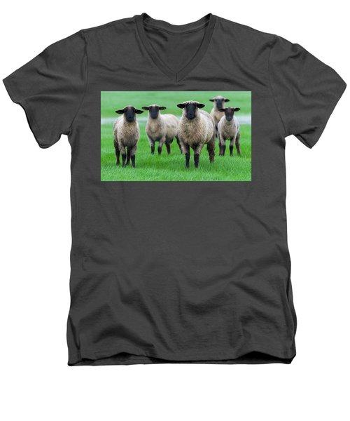 Family Photo Men's V-Neck T-Shirt by Scott Warner