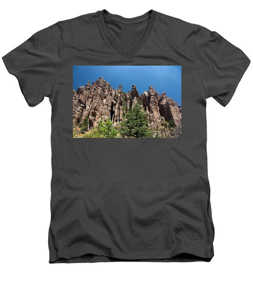 Men's V-Neck T-Shirt featuring the photograph Organ Pipes by Joe Kozlowski