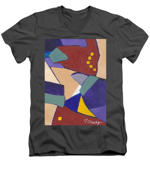 Organic Abstract Series IIi Men's V-Neck T-Shirt