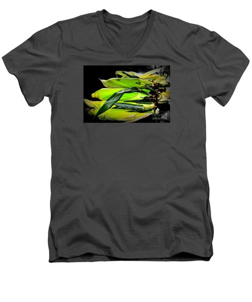 Men's V-Neck T-Shirt featuring the photograph Organic Corn 2 by Tanya Searcy