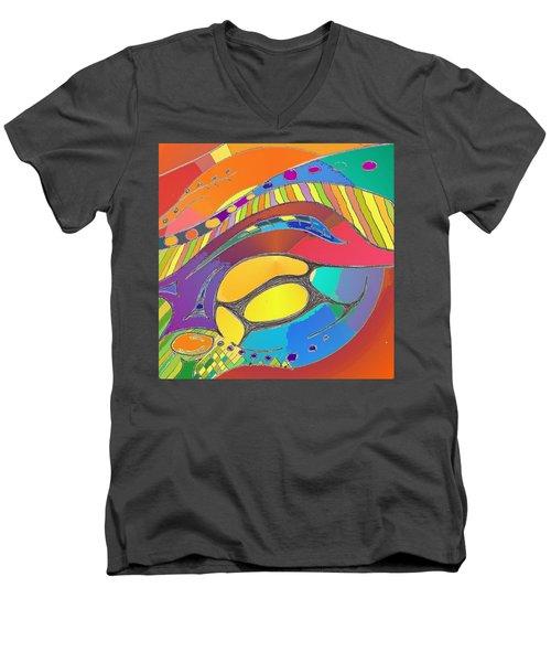 Organic Life Scan Or Cellular Light - Original, Square Men's V-Neck T-Shirt
