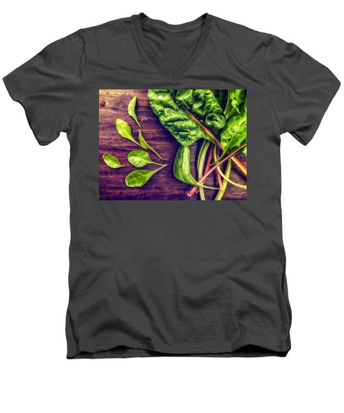 Organic Rainbow Chard Men's V-Neck T-Shirt