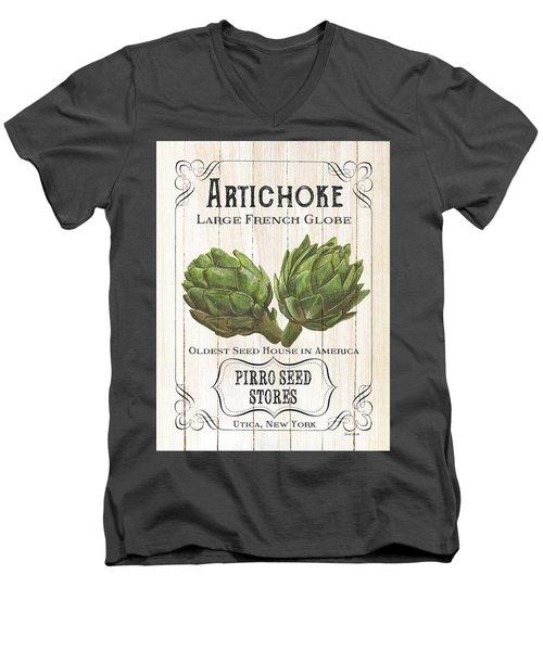 Organic Seed Packets 1 Men's V-Neck T-Shirt by Debbie DeWitt