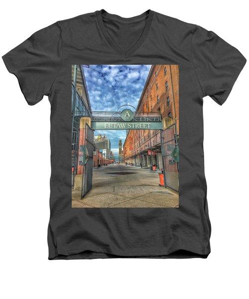 Oriole Park At Camden Yards - Eutaw Street Gate Men's V-Neck T-Shirt