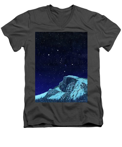 Orion Over Yosemite Men's V-Neck T-Shirt