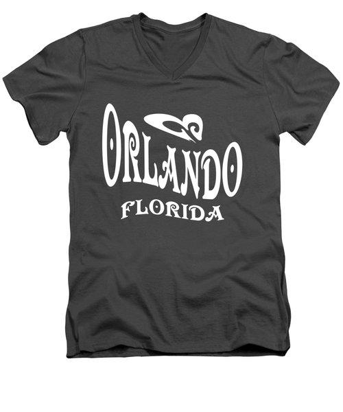 Orlando Florida Tshirt Design Men's V-Neck T-Shirt by Art America Gallery Peter Potter