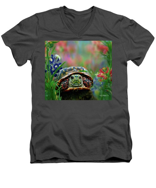 Ornate Box Turtle Men's V-Neck T-Shirt