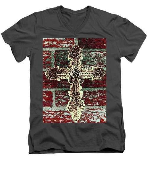 Ornate Cross 1 Men's V-Neck T-Shirt