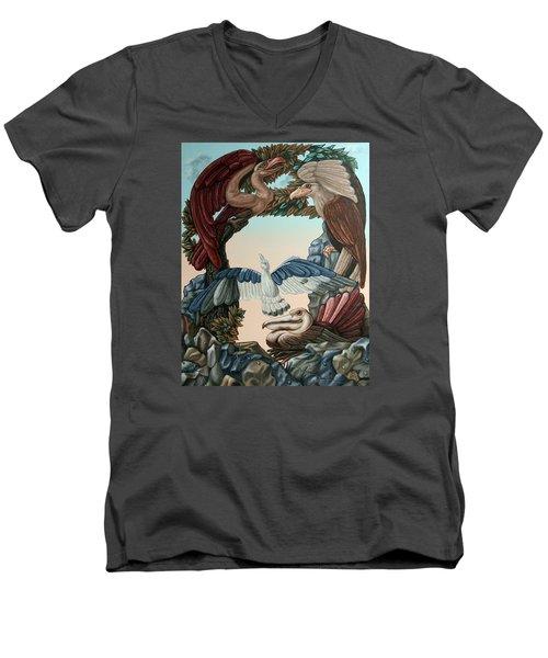 Ornithological Symphony By Ludwig Van Beethove Men's V-Neck T-Shirt