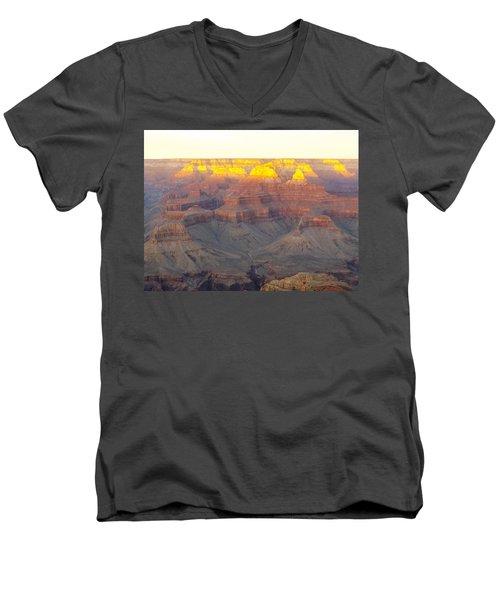 Oro Meseta Men's V-Neck T-Shirt by Adam Cornelison