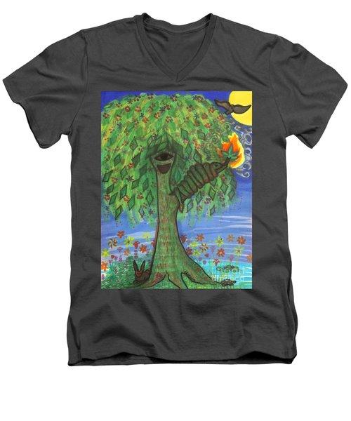 Osain Tree Men's V-Neck T-Shirt