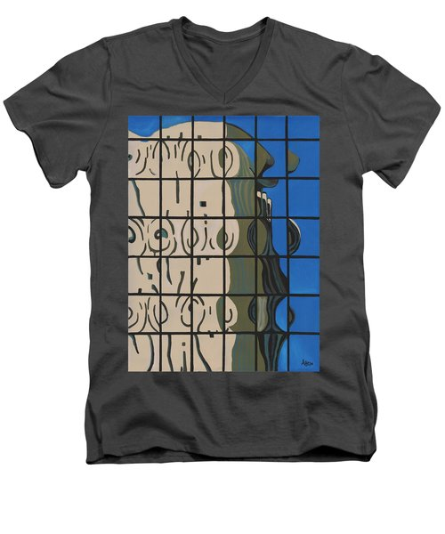 Osborn Reflections Men's V-Neck T-Shirt by Alika Kumar