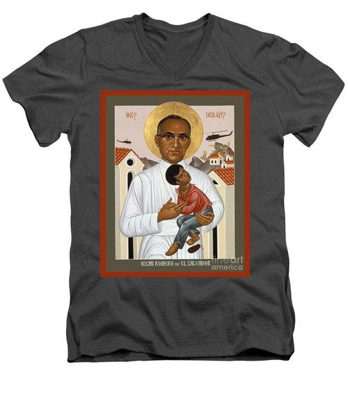 St. Oscar Romero Of El Salvado - Rlosr Men's V-Neck T-Shirt