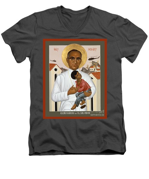 St. Oscar Romero Of El Salvado - Rlosr Men's V-Neck T-Shirt