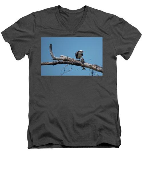 Osprey And Fish Men's V-Neck T-Shirt