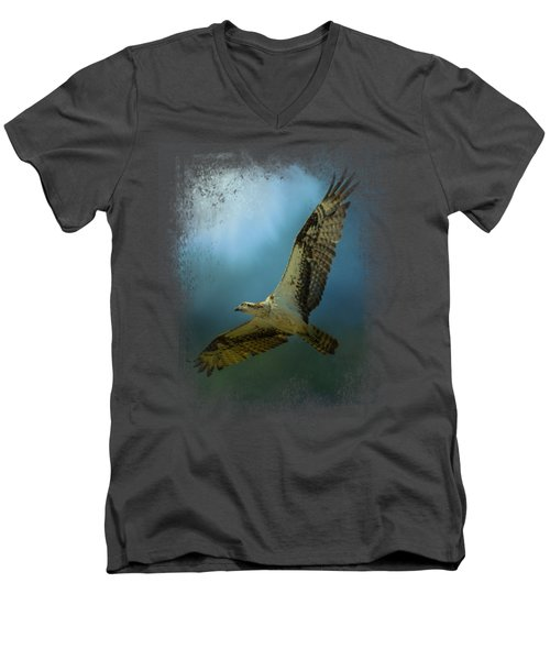 Osprey In The Evening Light Men's V-Neck T-Shirt