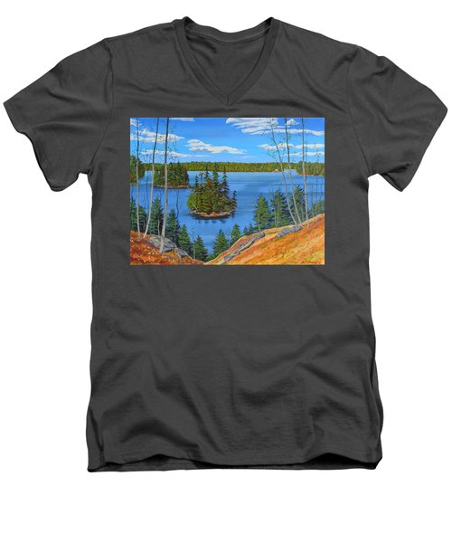Osprey Island Men's V-Neck T-Shirt