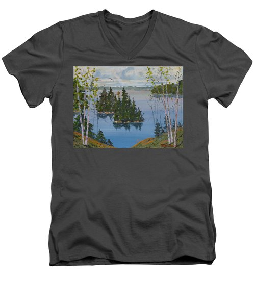 Osprey Island Study Men's V-Neck T-Shirt
