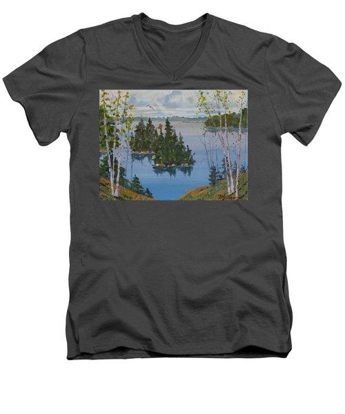 Osprey Island Study Men's V-Neck T-Shirt
