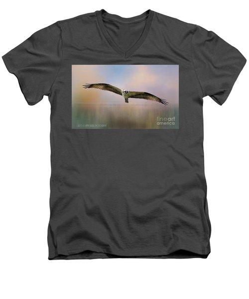 Osprey Over The Shenandoah Men's V-Neck T-Shirt