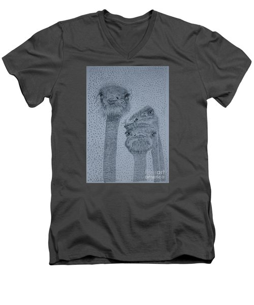 Ostrich Umbrella Men's V-Neck T-Shirt