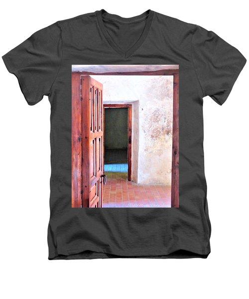 Other Side Men's V-Neck T-Shirt by Pablo Munoz
