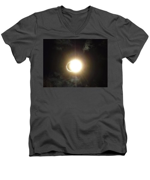 Otherworldly Eclipse-leaving Totality Men's V-Neck T-Shirt