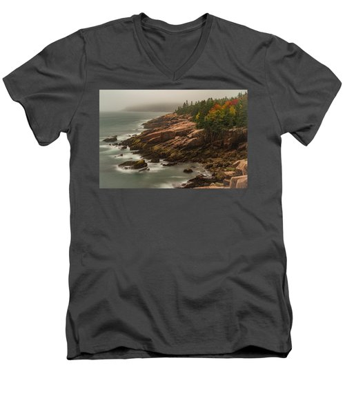 Otter Cliffs Men's V-Neck T-Shirt