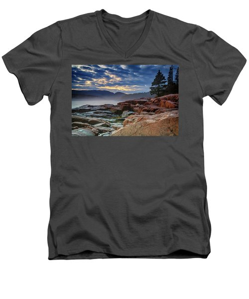 Otter Cove In The Mist Men's V-Neck T-Shirt