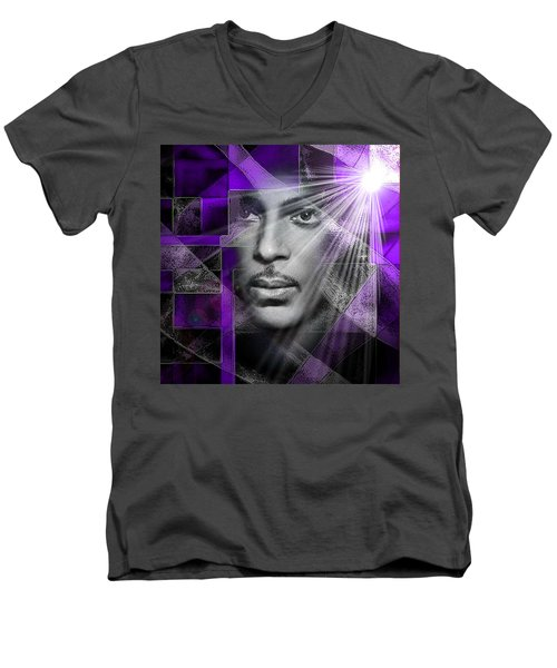 Our Beautiful Purple Prince Men's V-Neck T-Shirt
