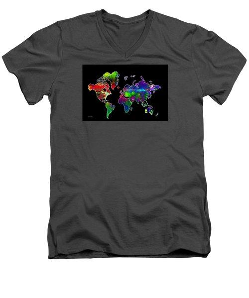 Our Colorful World Men's V-Neck T-Shirt by Randi Grace Nilsberg