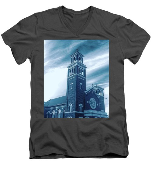 Our Lady Of Sorrows Under Wispy Skies Men's V-Neck T-Shirt