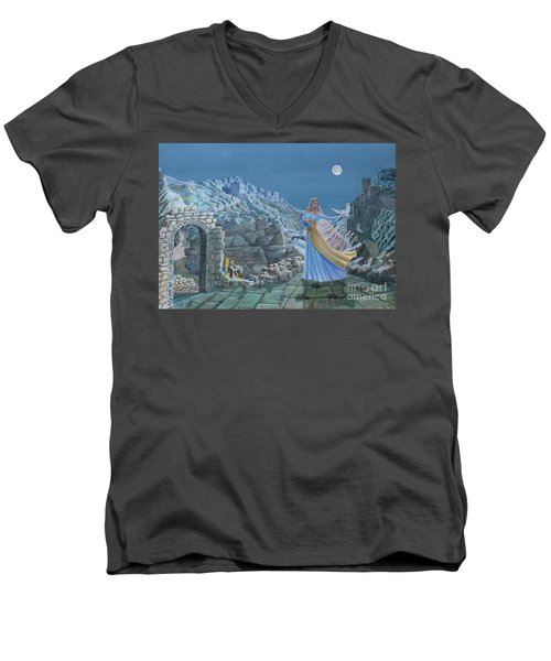Our Lady Queen Of Peace Men's V-Neck T-Shirt