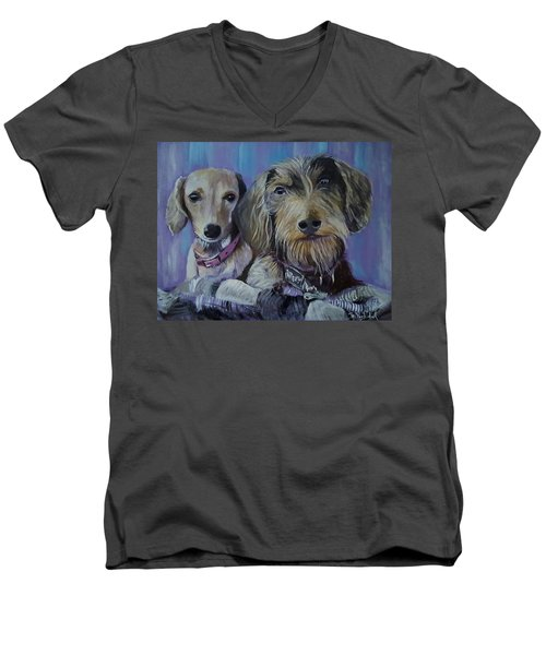 Our Pups Men's V-Neck T-Shirt