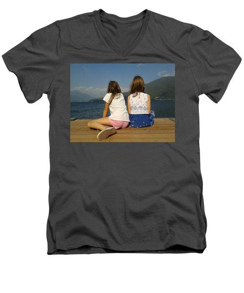 Our Wonderful Maty And Francy Men's V-Neck T-Shirt