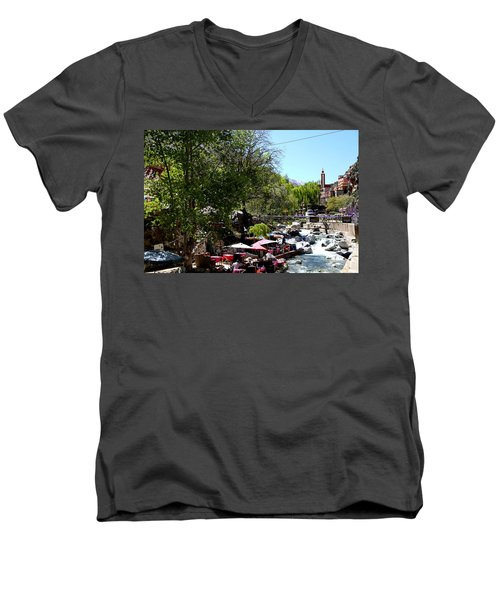Men's V-Neck T-Shirt featuring the photograph Ourika Valley 1 by Andrew Fare