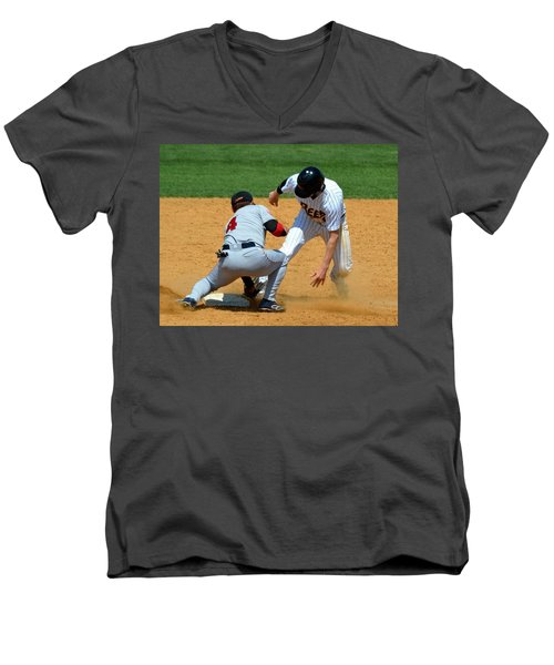 Out At Second Men's V-Neck T-Shirt