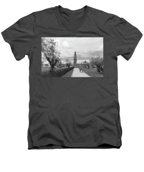 Out For A Walk Men's V-Neck T-Shirt