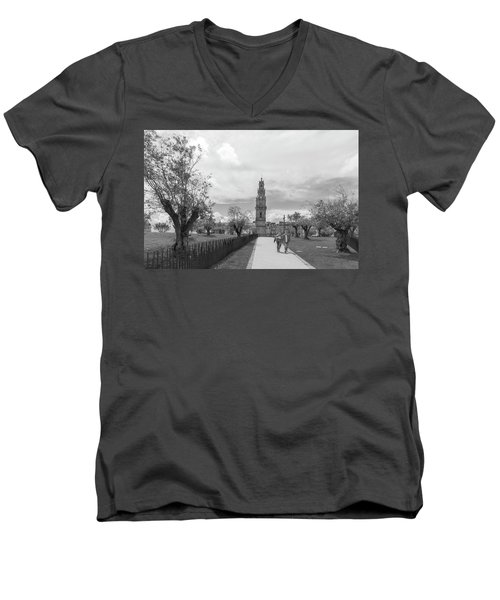 Out For A Walk Men's V-Neck T-Shirt