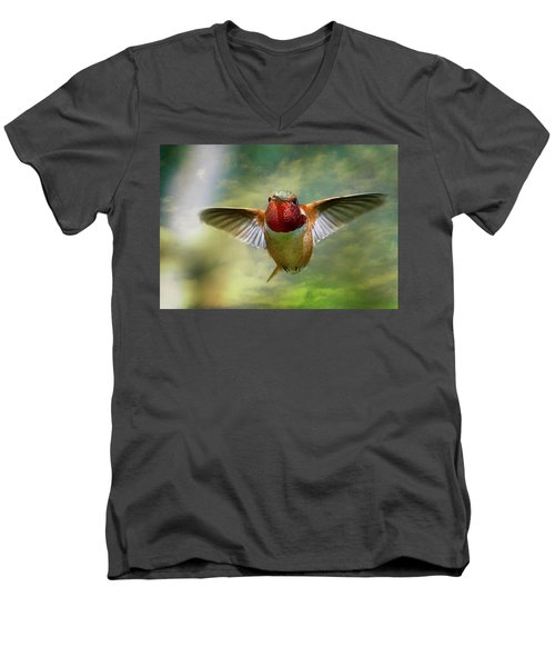 Out From The Clouds Men's V-Neck T-Shirt