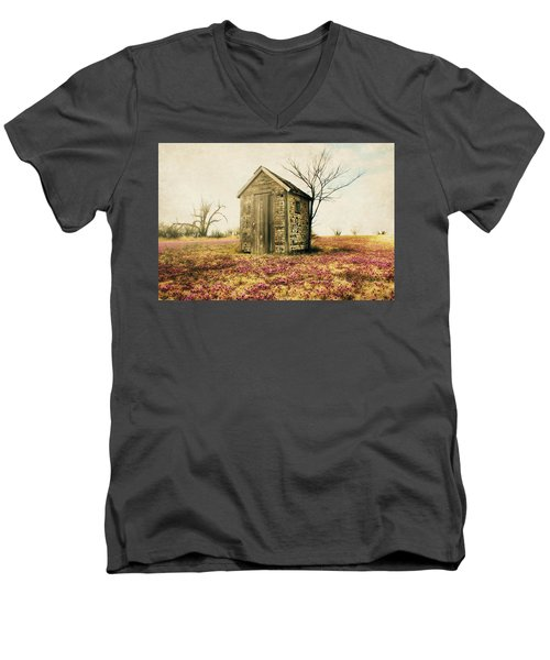 Men's V-Neck T-Shirt featuring the photograph Outhouse by Julie Hamilton
