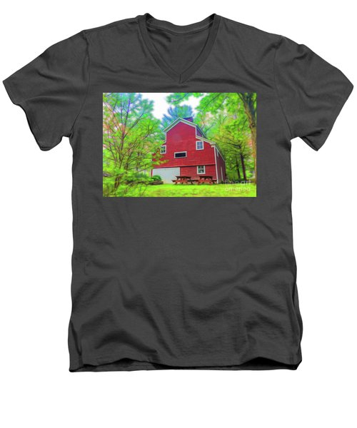 Out In The Country Men's V-Neck T-Shirt by Jim Lepard