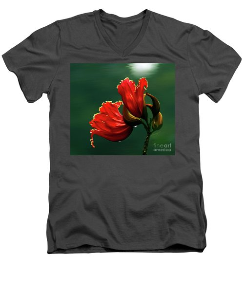 Out Of Africa- Mixed Media- Photo Composite- Altered Art Men's V-Neck T-Shirt