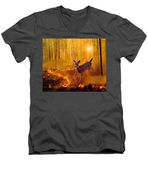 Out Of Egypt Men's V-Neck T-Shirt by Bill Stephens
