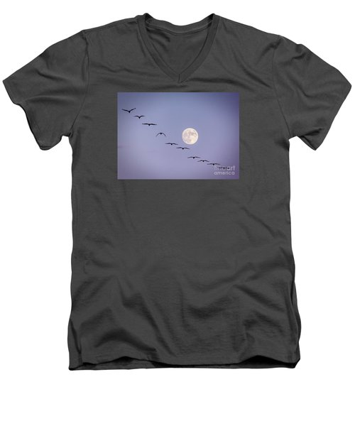 Out Of Sync Men's V-Neck T-Shirt by Janice Rae Pariza
